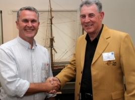 John O'Sullivan with Jon Grahame of Telstra